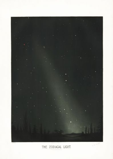 Trouvelot, Etienne Leopold: The Zodiacal Light. (The Trouvelot Astronomical Drawings, 1882) Space Print/Poster. Sizes: A1/A2/A3/A4 (107)